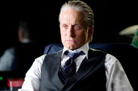 """Michael Douglas nel ruolo di Gordon Gekko nel film di Oliver Stone """"Wall Street, il denaro non dorme mai""""."""