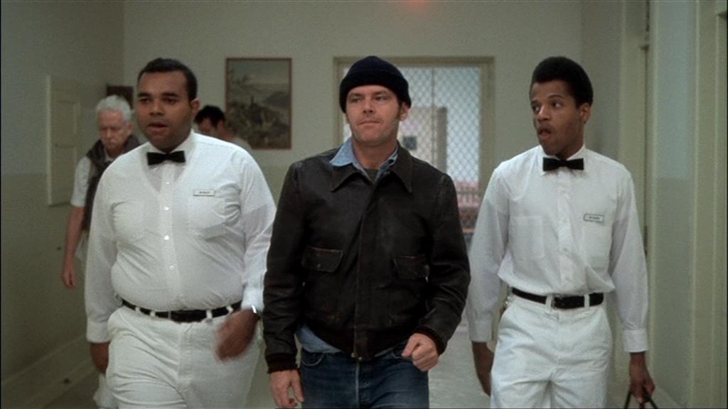 Jack Nicholson nel ruolo di Randle Mc Murphy.
