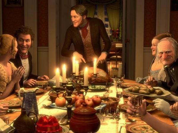 """Una scena del film """"A Christmas Carol"""" di Robert Zemeckis."""