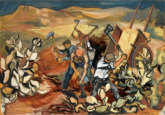 """""""Contadini al lavoro"""", 1950"""