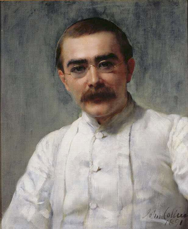 Rudyard Kipling ritratto da John Collier, 1891.