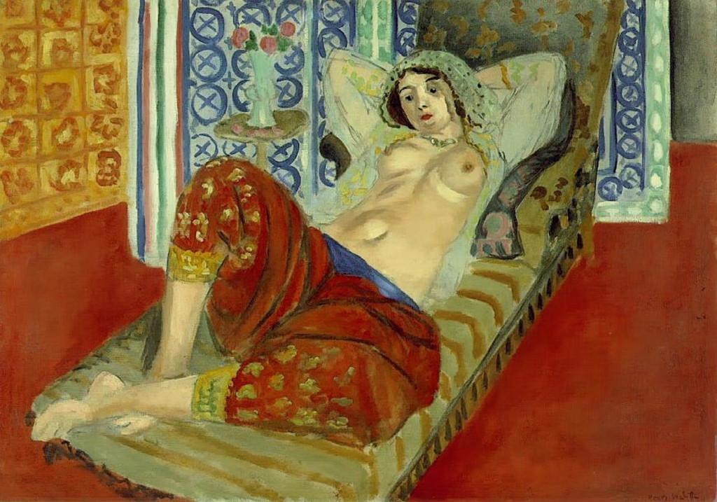 """""""Odalisca con culotte rossa"""", 1921."""