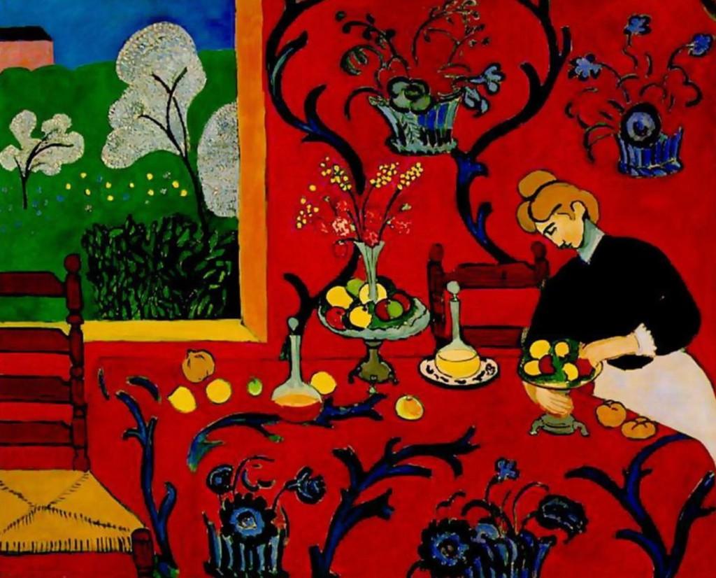 """""""La tovaglia: armonia in rosso"""", 1909."""