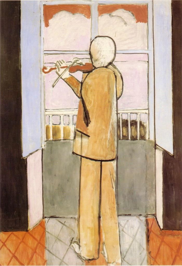 """""""Il violinista alla finestra"""", 1917."""