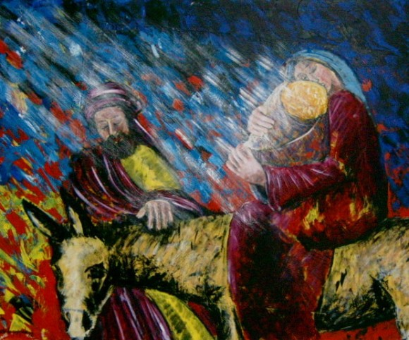 Fuga in Egitto - Acrilico su tela - 1998. Paolo De Pasquale