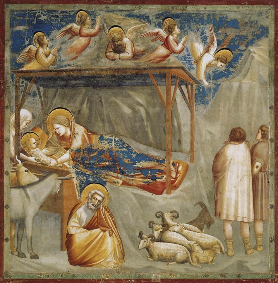 """""""La nascita di Gesù"""", Giotto"""