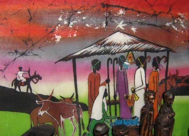 Tanzanian nativity batik.