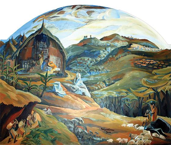 "Elimo Njau, ""The Nativity,"" 1959."