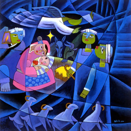 He Qi, Nativity, 1998.