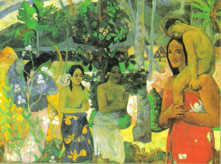 "Paul Gauguin, ""La Orana Maria"", 1891."