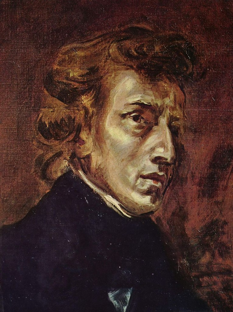 Eugène Delacroix, Ritratto di Chopin, 1838.