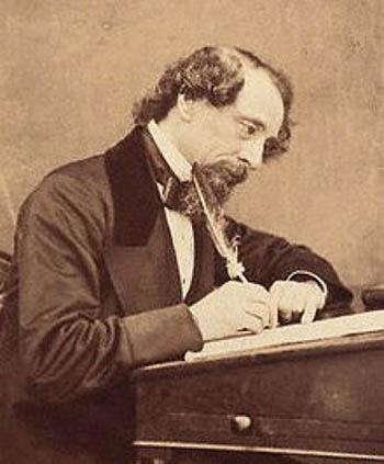 Charles Dickens in un ritratto di George Herbert Watkins (1858).