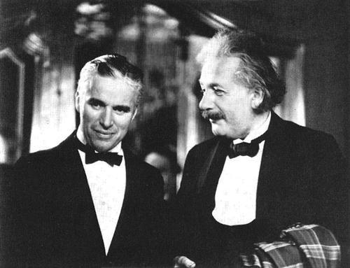 Charlie Chapin insieme ad Albert Einstein