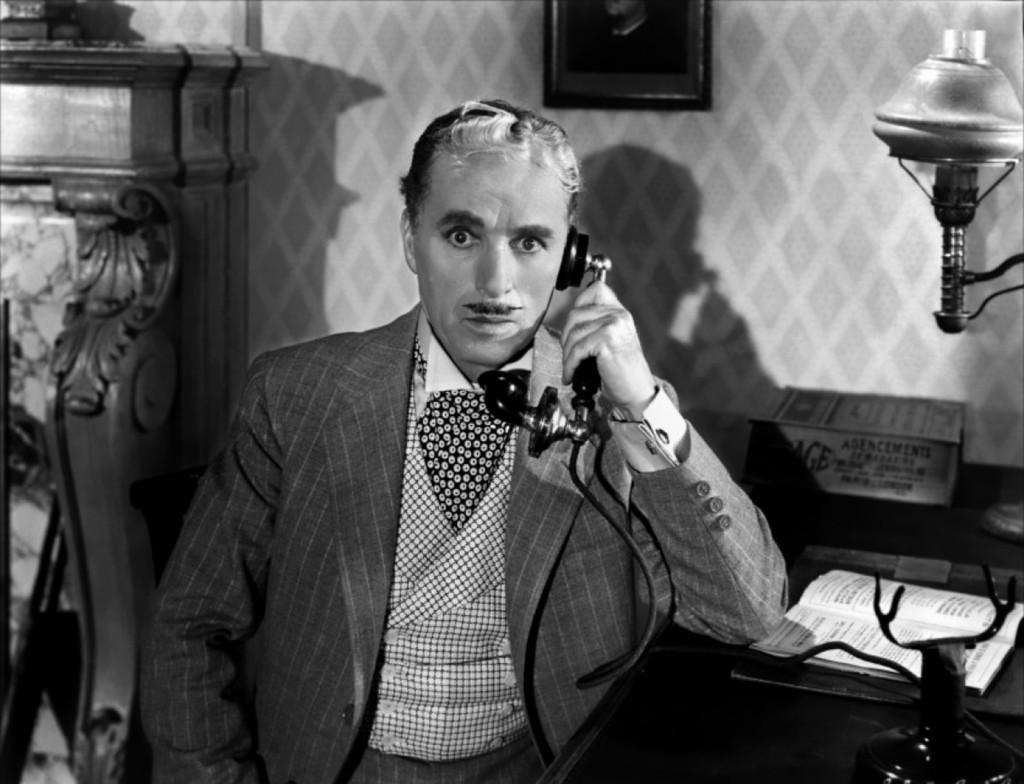 """Una scena del film """"Monsieur Verdoux"""", 1947"""
