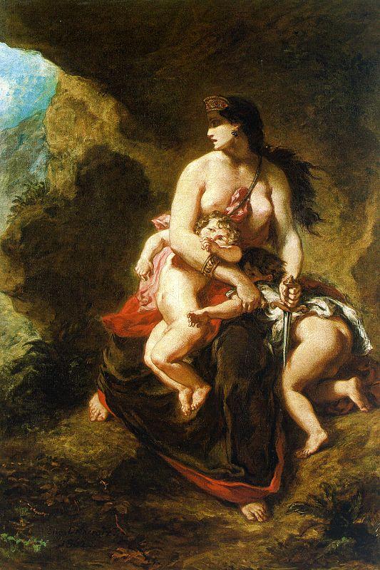 """""""La furia di Medea"""", 1838"""