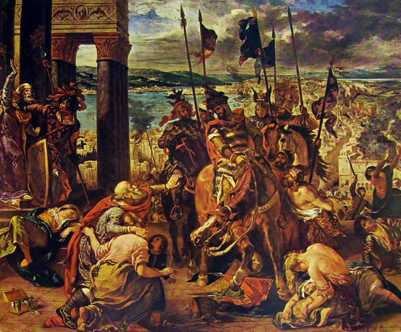 """""""Ingresso dei crociati a Costantinopoli"""", 1838"""