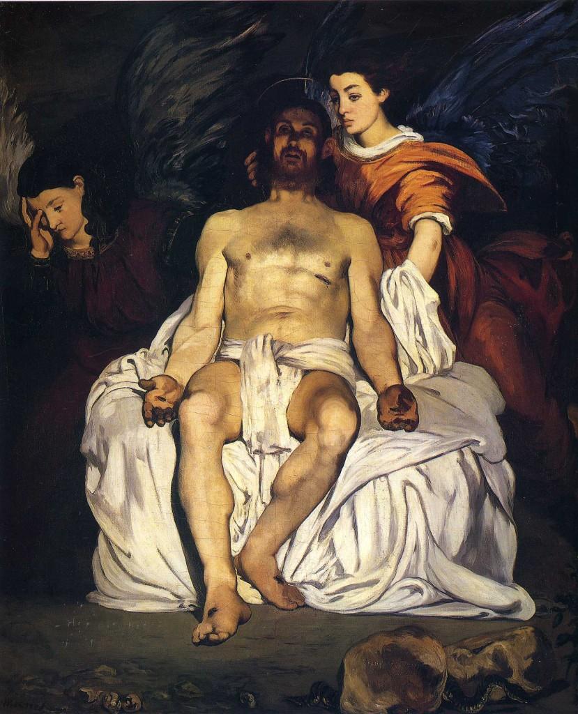 """""""Cristo morto con gli angeli"""", 1864 Metropolitan Museum of Modern Art."""