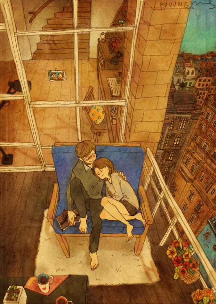 Il linguaggio segreto dell'amore nei disegni di Puung