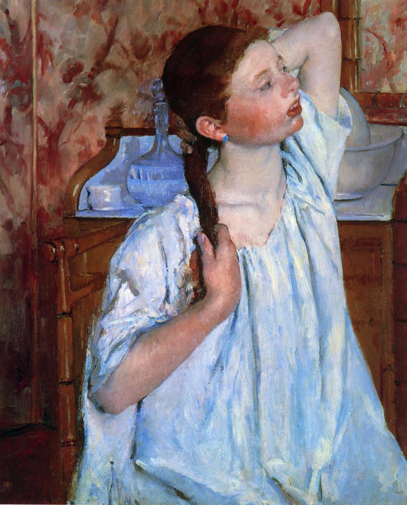 """""""Ragazza che mette in ordine i suoi capelli"""", 1886"""