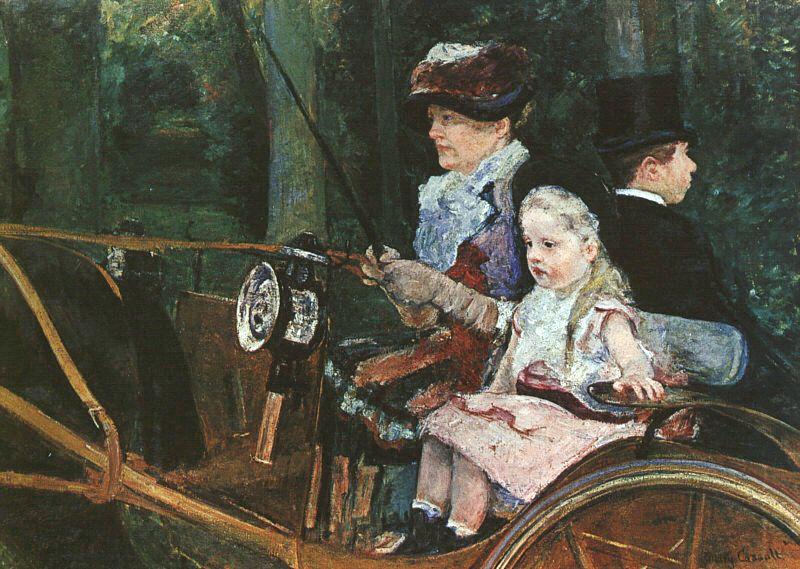 """""""Donna e bambina al posto di guida"""", 1881"""