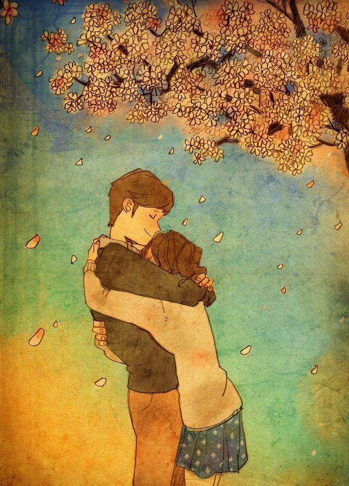 Il linguaggio dell'amore nei disegni di Puuung