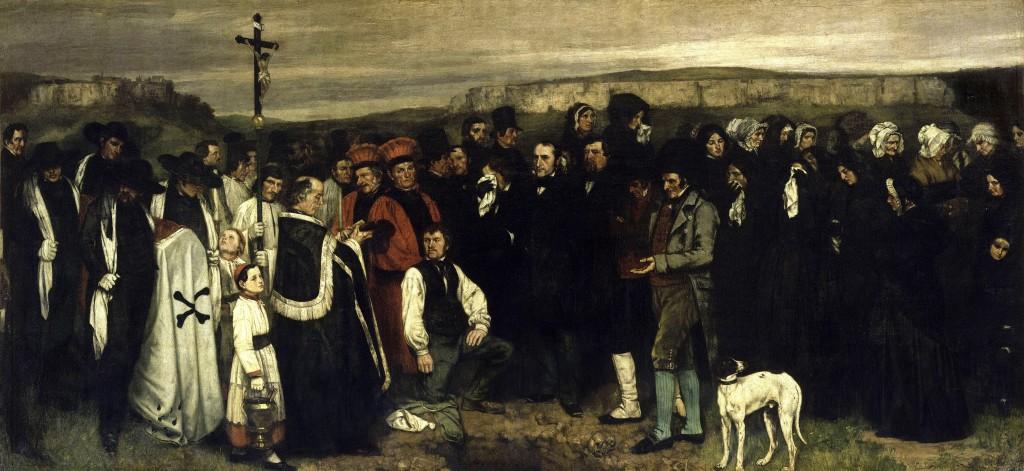 """Sepoltura a Ornans"", 1849-50."