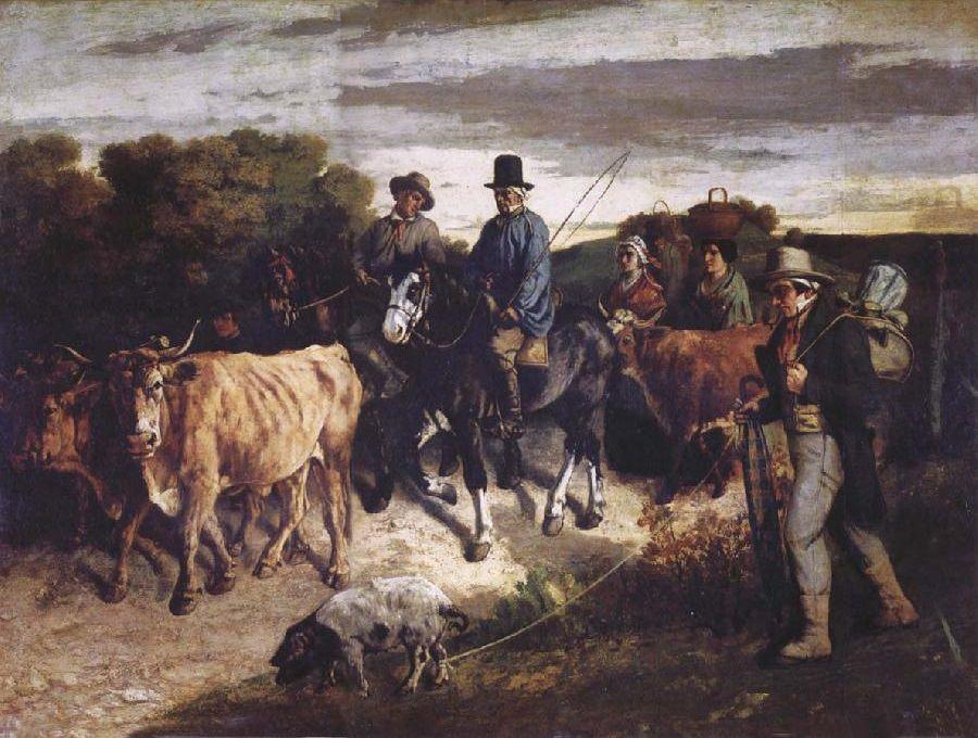 """""""I contadini di Flagey di ritorno alla fiera"""", 1850"""