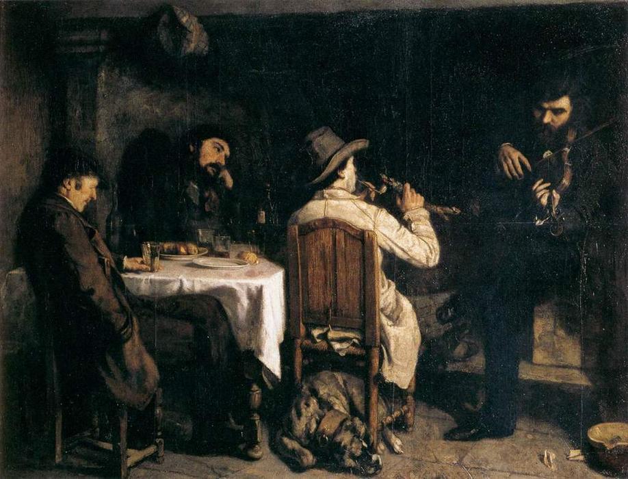 """Dopopranzo a Ornans"", 1848-1849."