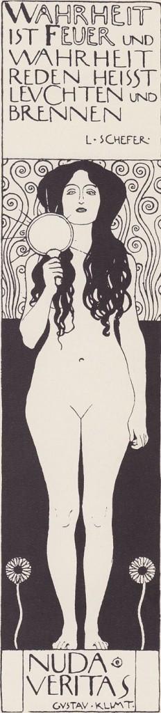 """""""Nuda Veritas"""", 1898."""