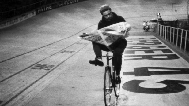 Course cycliste « Les 6 jours de Paris », vélodrome d'Hiver, 1957.