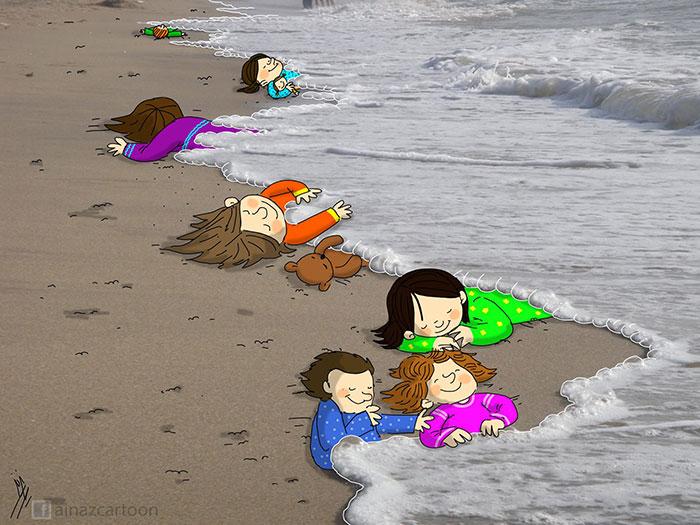 La tragico storia di Aylan Kurdi raccontata dagli artisti