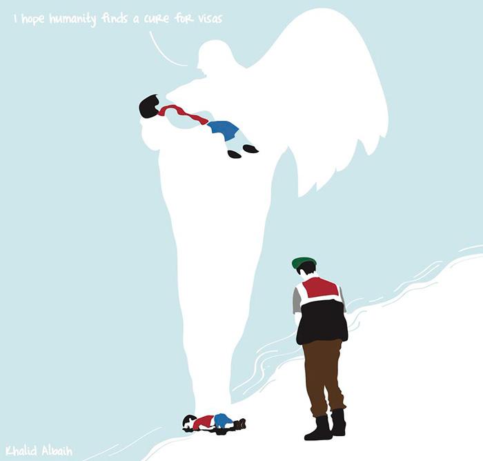 La vicenda del piccolo profugo siriano interpretata dagli artisti