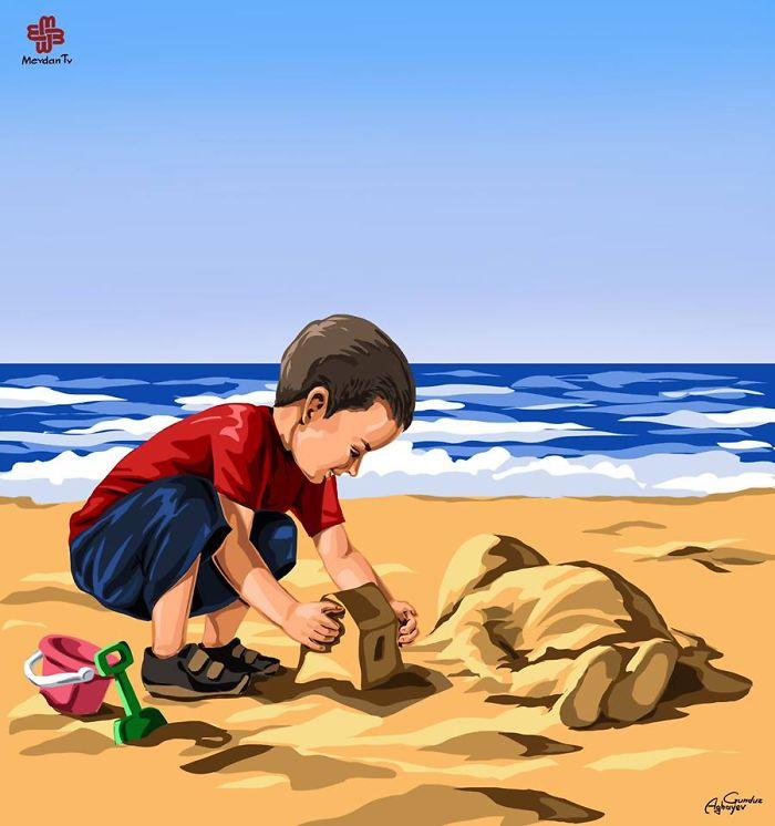 La tragedia dei rifugiati attraverso le opere dedicate ad Aylan Kurdi