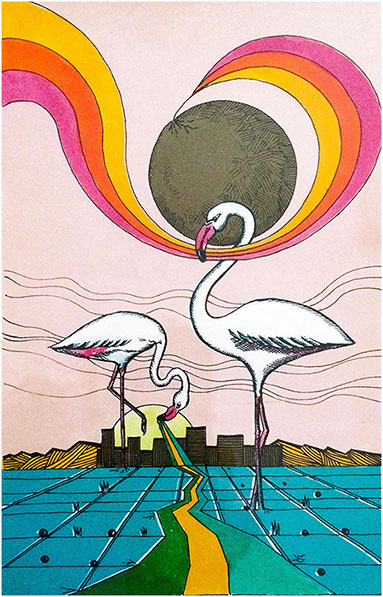 """Aironi"" (1986), serigrafia retouché 18x28."