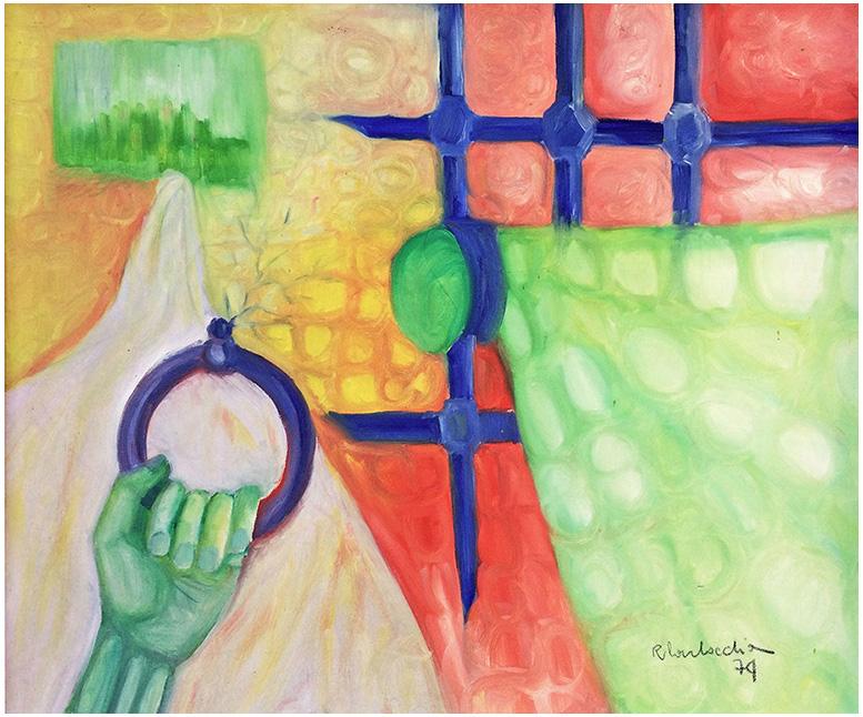 Ansia di libertà (1974) olio su tela 60x50.
