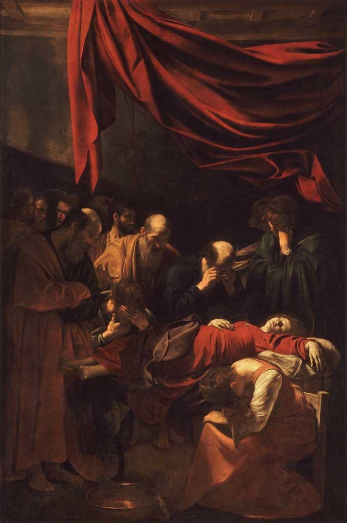 """Morte della Vergine"", 1605-1606, olio su tela, Musée de Louvre, Parigi."