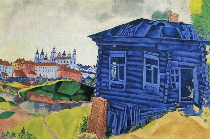 """""""La casa blu"""", 1917."""