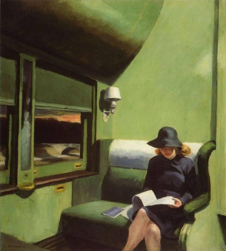 Quando penso a tutti i libri che mi restano da leggere, ho la certezza d'essere ancora felice. _ Jules Renard _ Compartment C, Car 293. Edward Hopper,1938