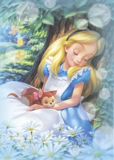 """Sapeva che sarebbe stato sufficiente aprire gli occhi per tornare alla sbiadita realtà senza fantasia degli adulti..."""" """"Alice nel paese delle meraviglie"""", Lewis Carrol"""
