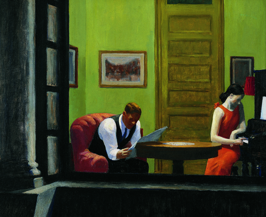 """Room in New York"", 1932 -Edward Hopper"