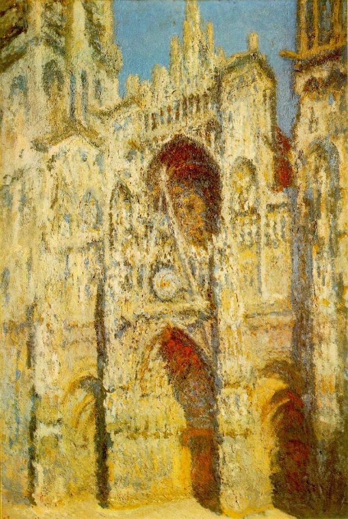 """""""La Cattedrale di Rouen, primo sole"""", 1894. Olio su tela. Musèe d'Orsay, Parigi"""