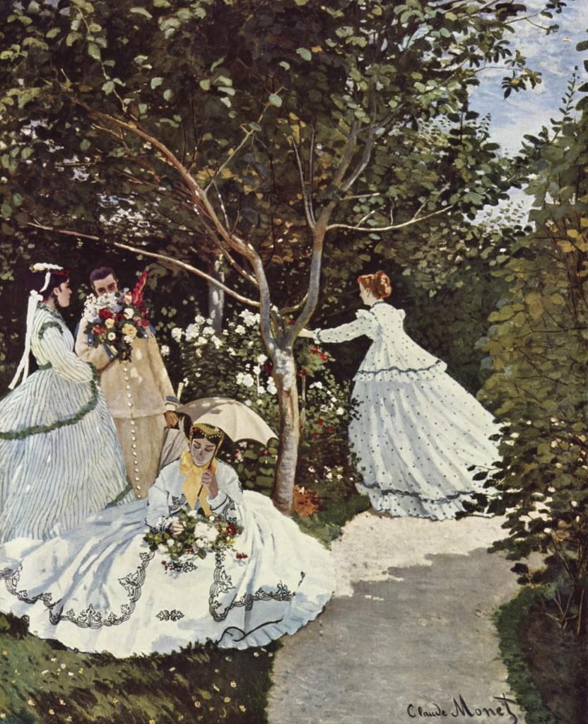 """""""Donne in giardino"""", 1866"""