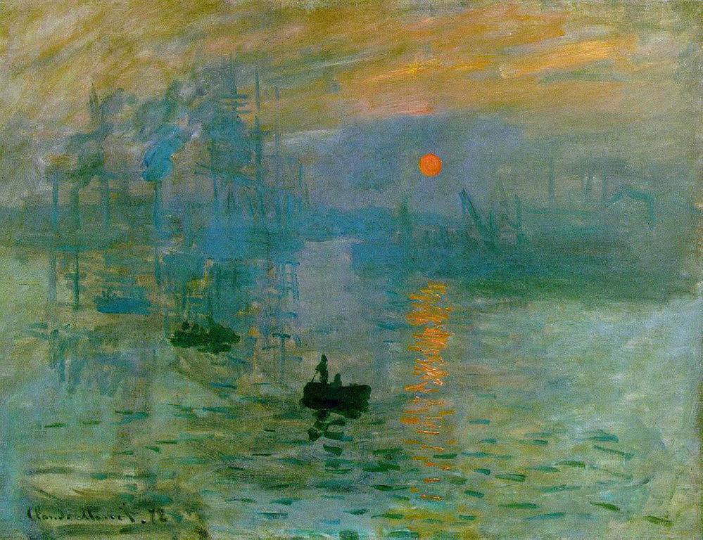 Impressione. Sorgere del sole, 1872, olio su tela. Musée Mamottan, Parigi.