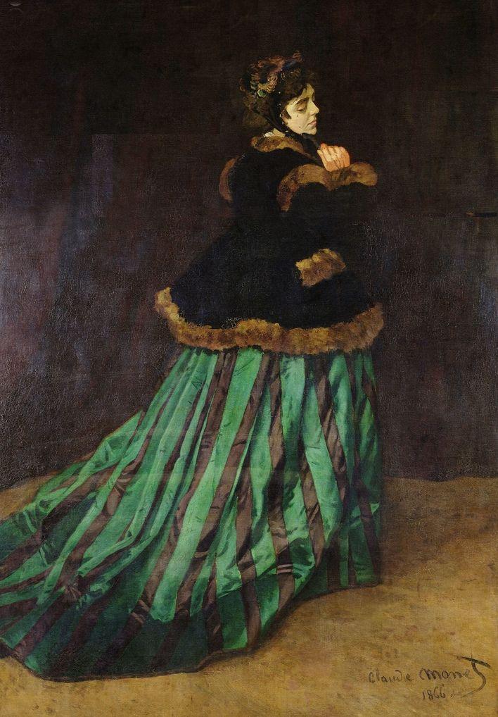 Camille in abito verde, 1866