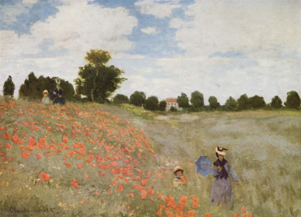"""I papaveri"", 1873, olio su tela. Musèe d'Orsay di Parigi."
