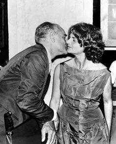 Alberto Moravia con Elsa Morante