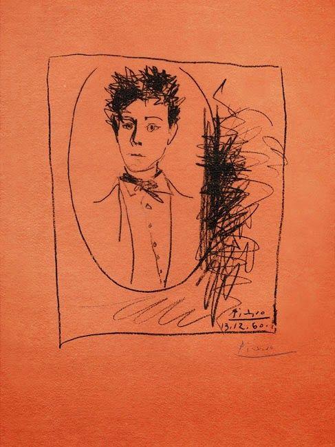 Rimbaud in un disegno di Pablo Picasso