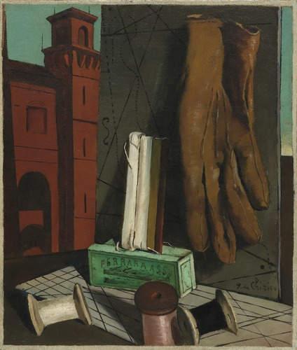 """""""I progetti della fanciulla"""", 1915 Olio su tela, cm 47,5 x 40,3 New York, Museum of Modern Art."""