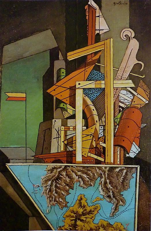 """""""La malinconia della partenza"""", 1916 Olio su tela, cm 51,8 x 35,9 Londra, Tate"""