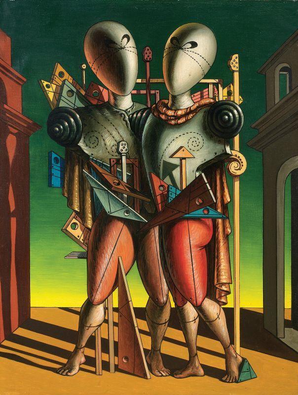 Ettore e Andromaca, 1917. Olio su tela, cm 90 x 60 Collezione privata.